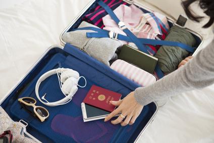 スーツケースを詰める