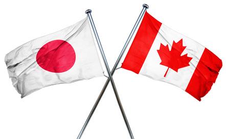 日本とカナダの国旗