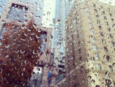 雨のバンクーバー