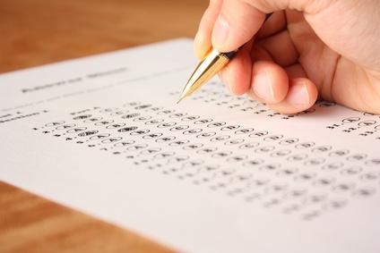 英語の選択問題テスト