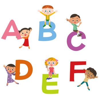 アルファベットと子供達